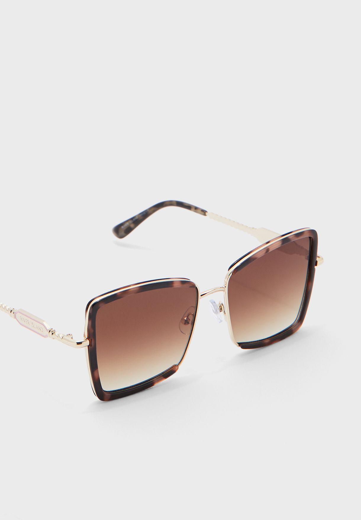 Angular Glam Plastic Metal  Sunglasses