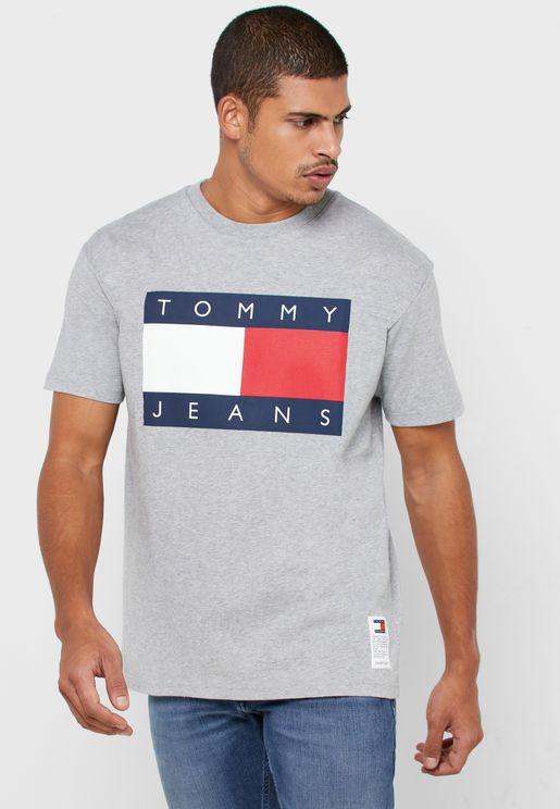 Logo Flag Crew Neck T-Shirt