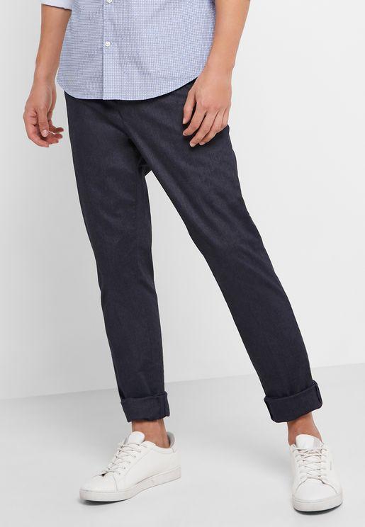 Herringbone Slim Fit Trousers