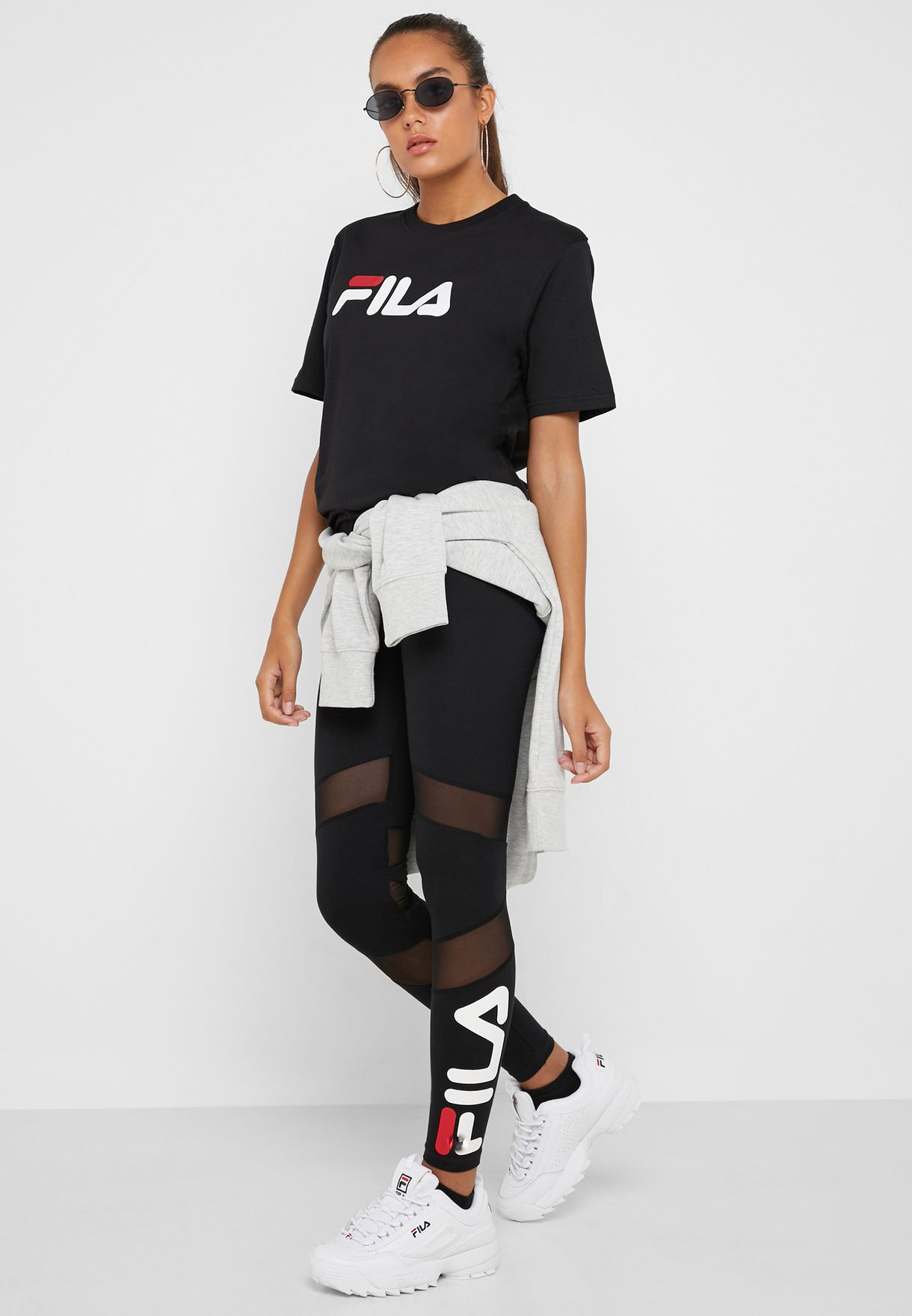 18f1bf10a43 Shop Fila black Amara Legging LW181S58-001 for Women in Saudi ...