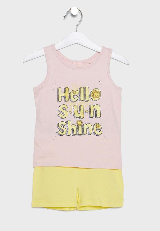 Kids Printed T-Shirt Set