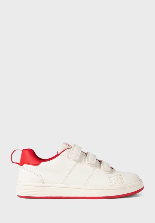 Kids Triple Strap Sneaker