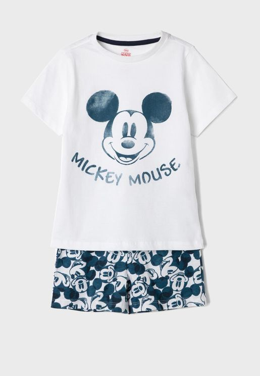 Kids Mickey Mouse + Short Pyjama Set