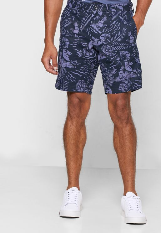 Brooklyn Hawaii Print Shorts