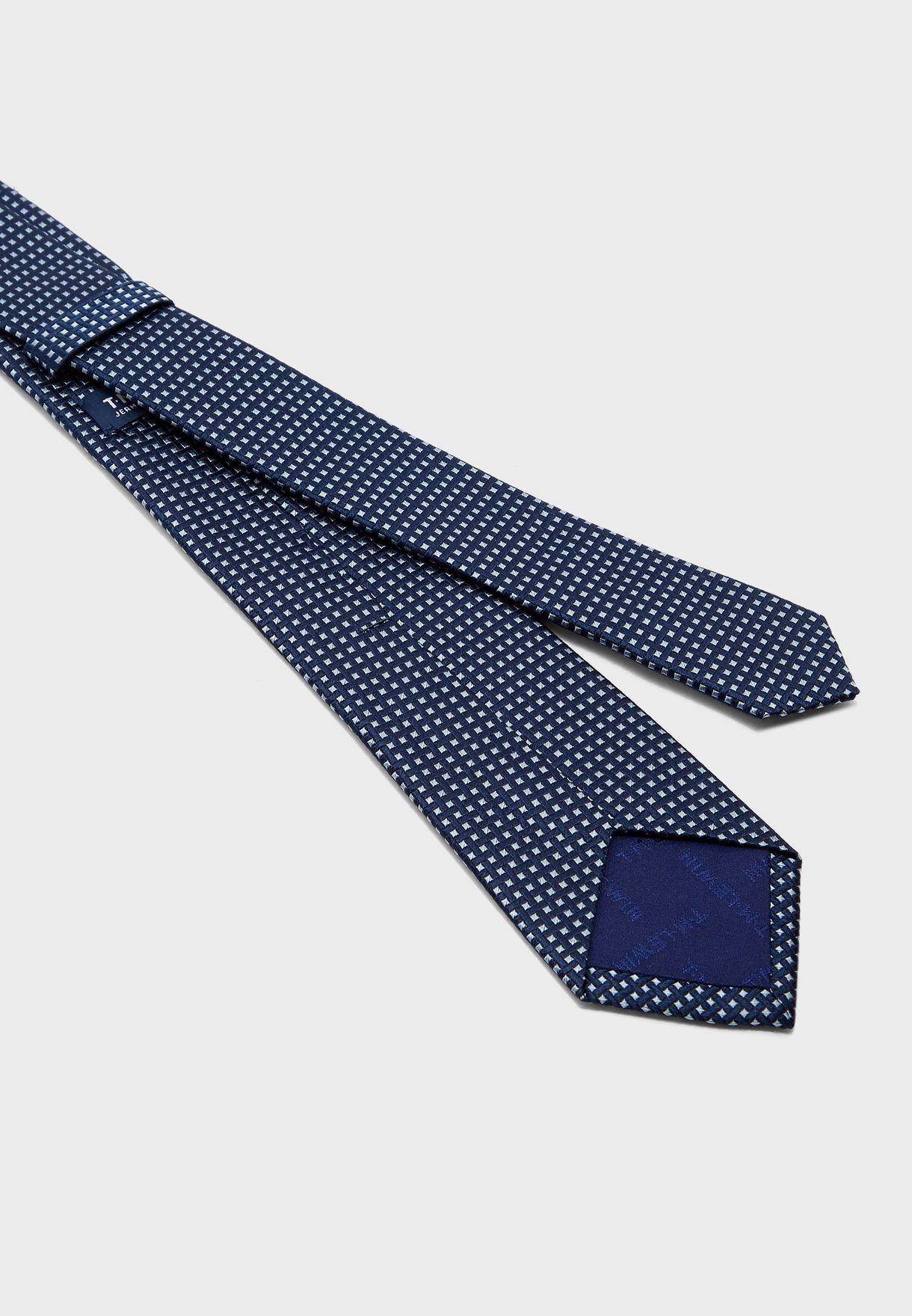 Jacquard Crosshatch Tie