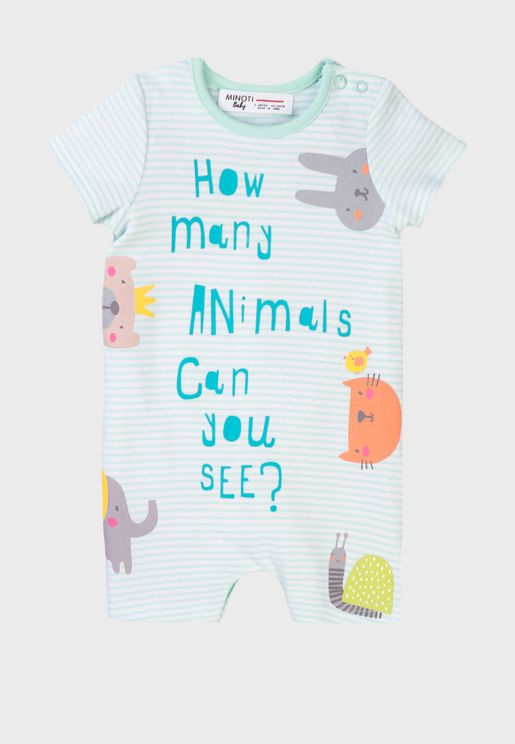 Infant Slogan Romper