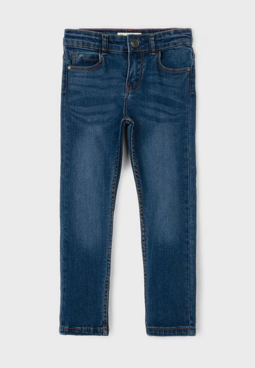 Kids Mid Wash Slim Fit Jeans