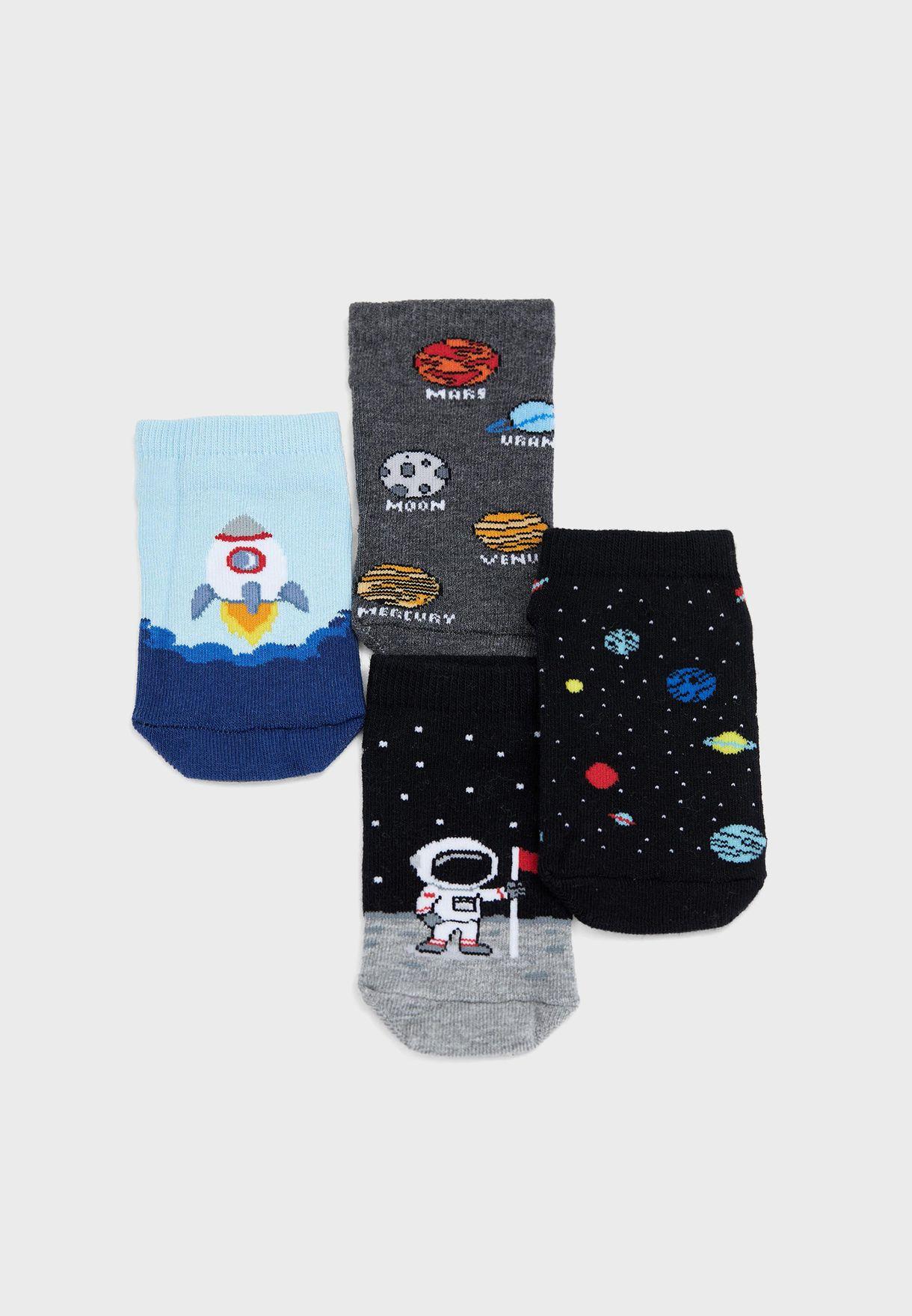 Kids 7 Pack Assorted Socks