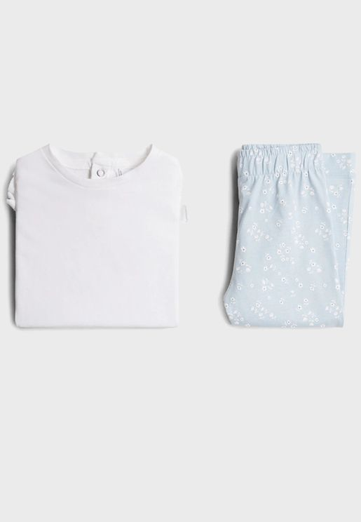 Infant Essential T-Shirt + Printed Pyjama Set