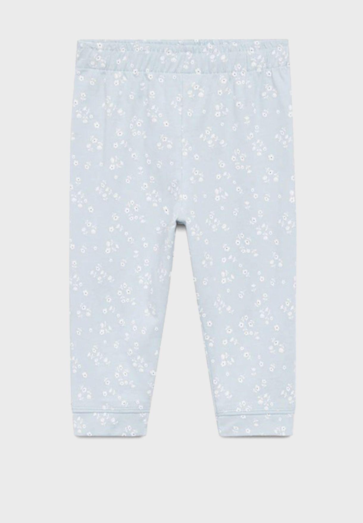 Infant Essential T-Shirt + Printed Pyjama Set