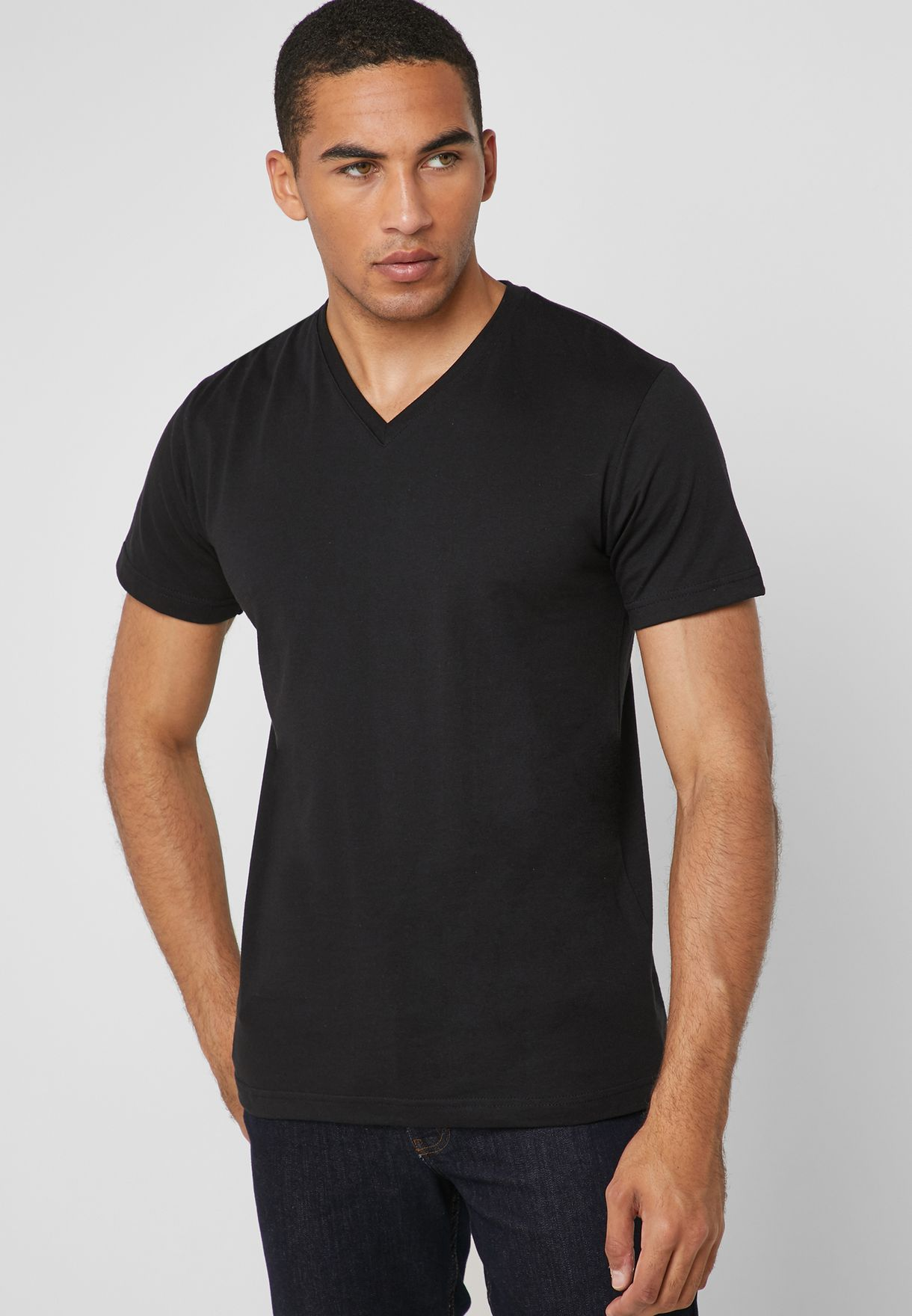 5 Pack Essential V-Neck T-Shirt