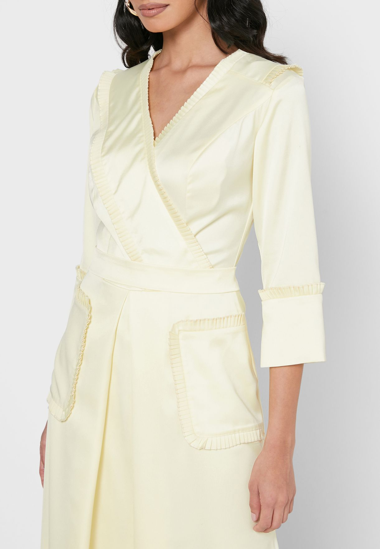 Silk Overlap Dress