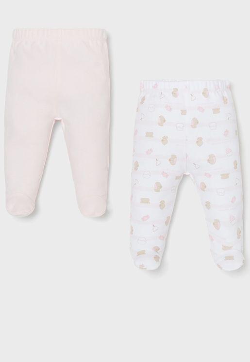 Infant 2 Pack Assorted Leggings