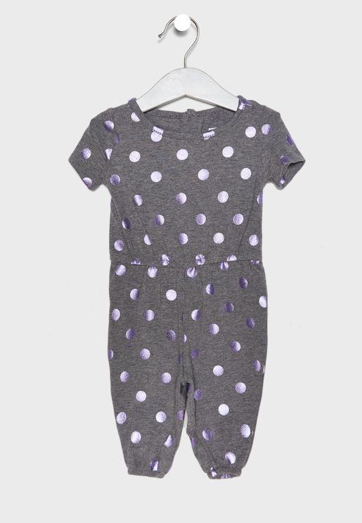 Infant Metallic Dot Jumpsuit
