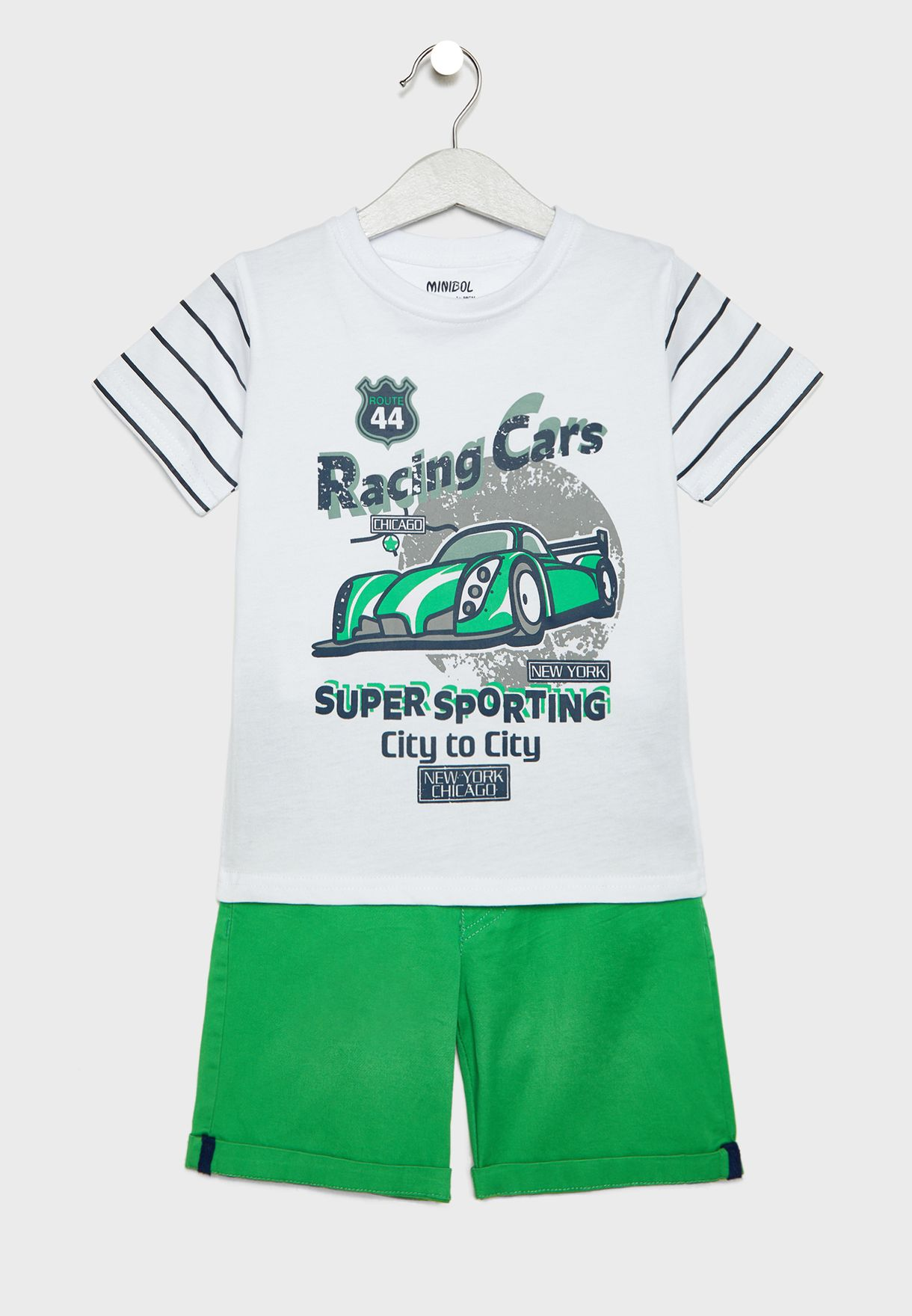 431e13b44 Shop Babybol multicolor Little Car T-Shirt + Shorts Set 19265 for ...