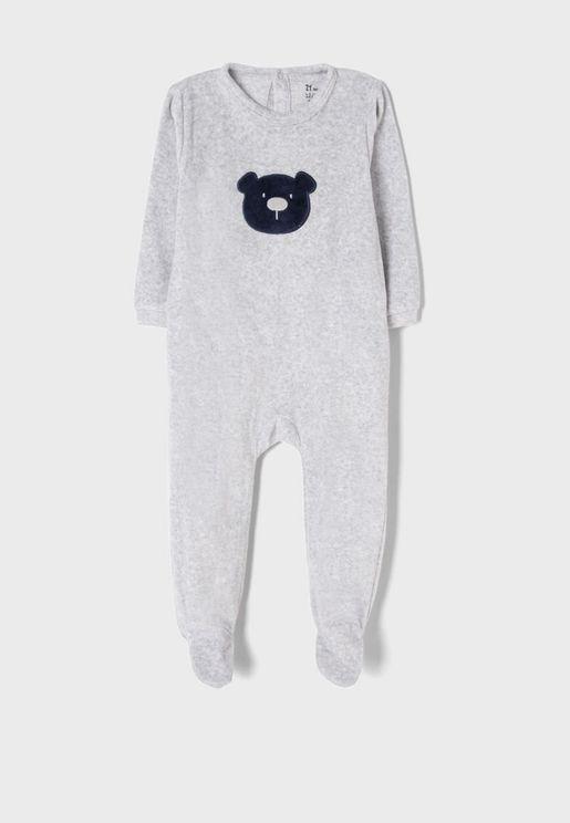 Infant Bear Print Onesie