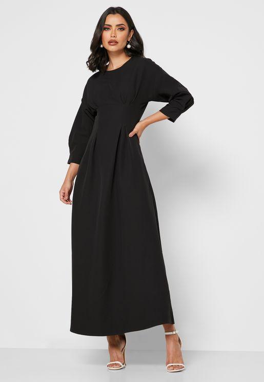 Detailed Waist Midi Dress