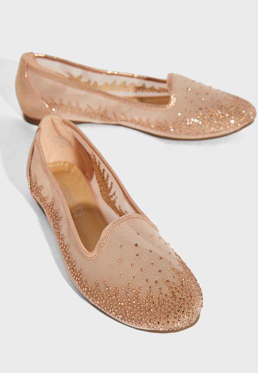 Sequin Detail Ballerina