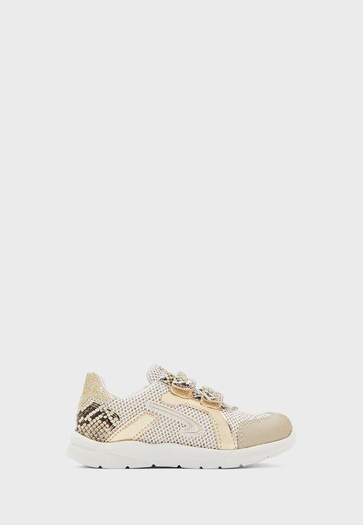 Kids Double Strap Glitter Sneaker