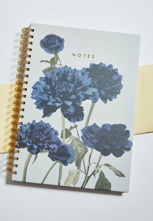 A4 Floral Notebook
