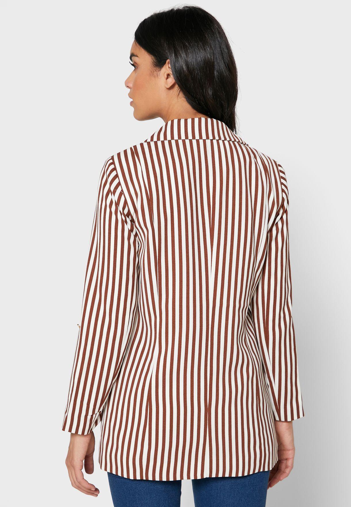 Pocket Detail Striped Blazer
