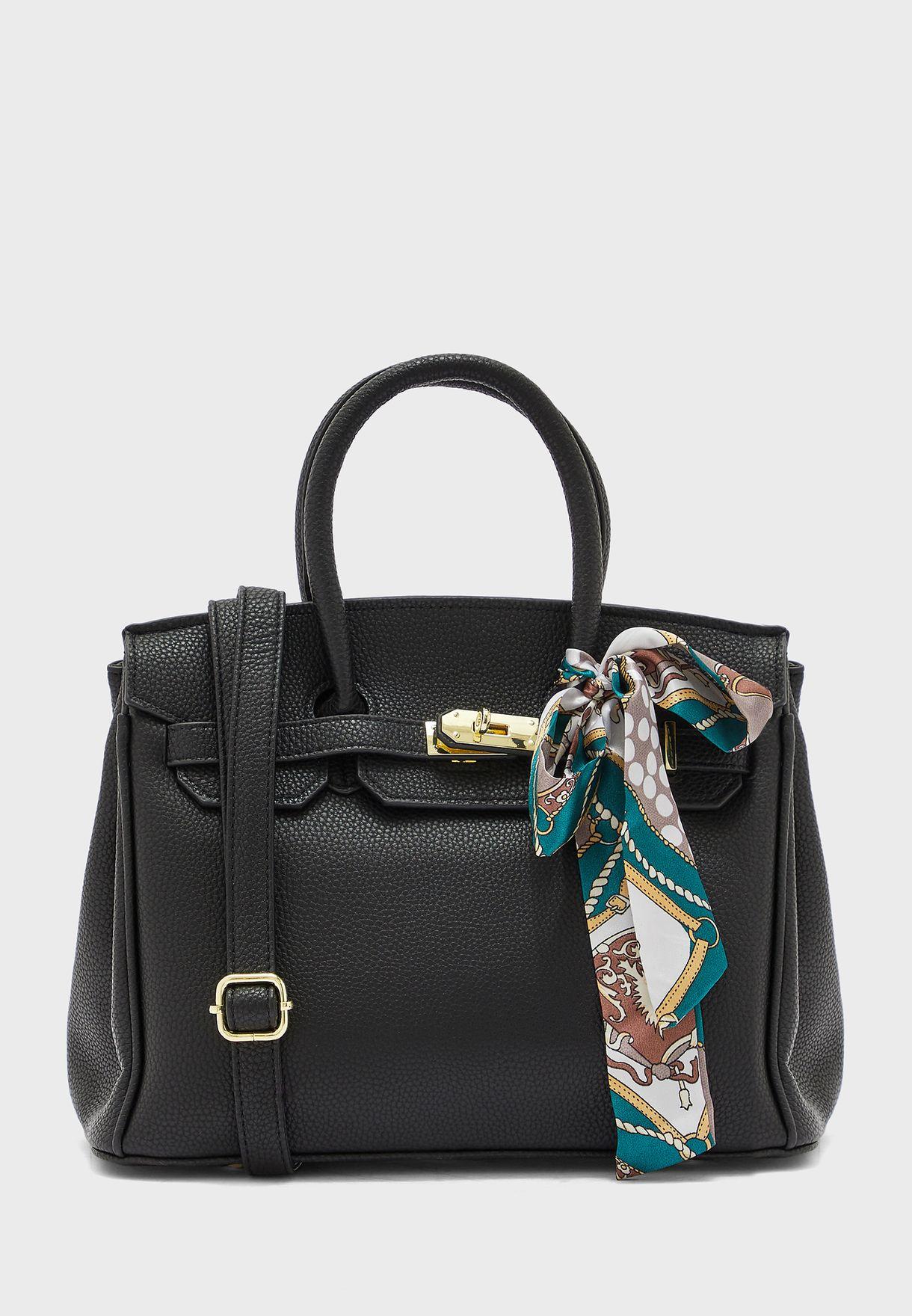 Scarf Toe Handle Handbag