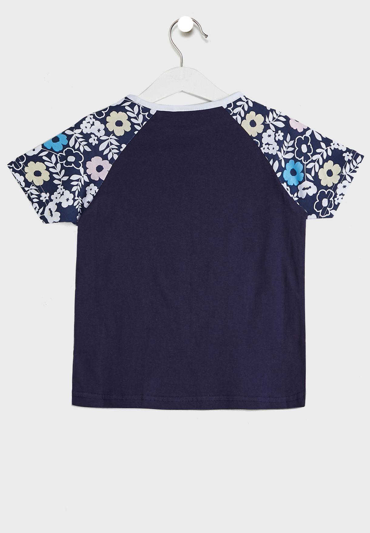 Kids Huda Colour Block T-Shirt