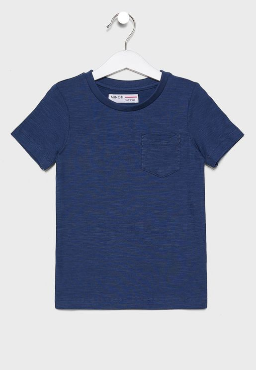 Little Pocket Detail Crew Neck T-Shirt