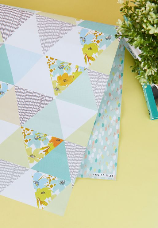 Baby Boy Triangles Wrapping Paper