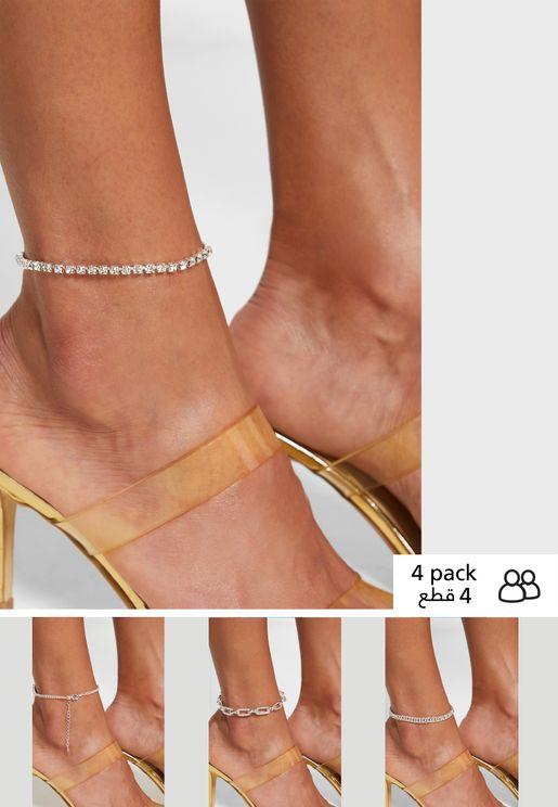 Twist Chain Cupchain Anklet Pk