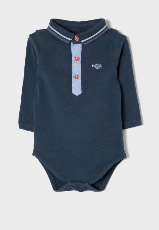 Infant Tipped Collar Bodysuit