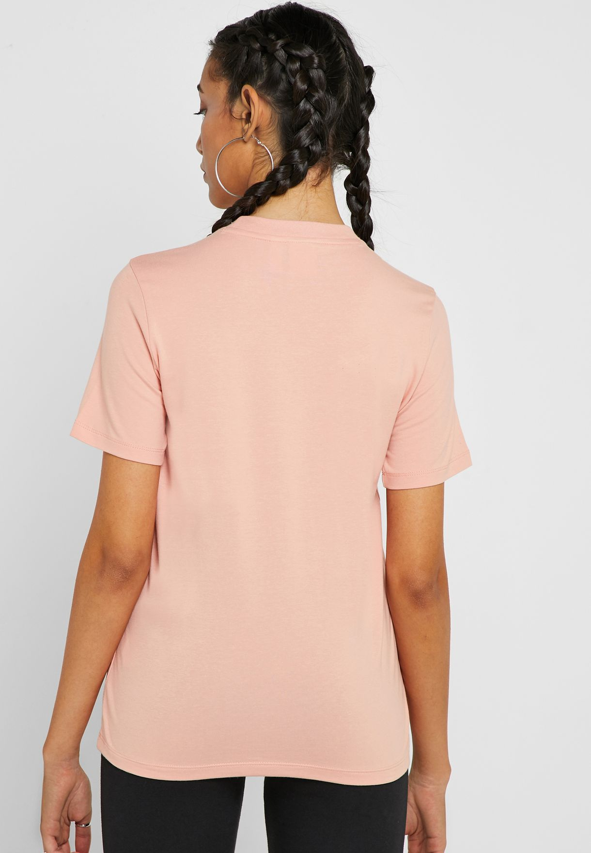 bf0b483f Shop adidas Originals pink Trefoil T-Shirt DV2587 for Women in Saudi ...