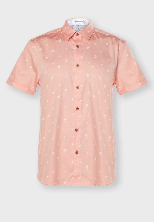 Tropical Print Relaxed Shirt