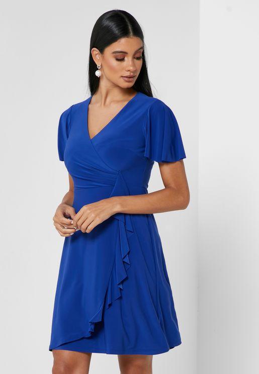 Gladys Side Tie Wrap Dress