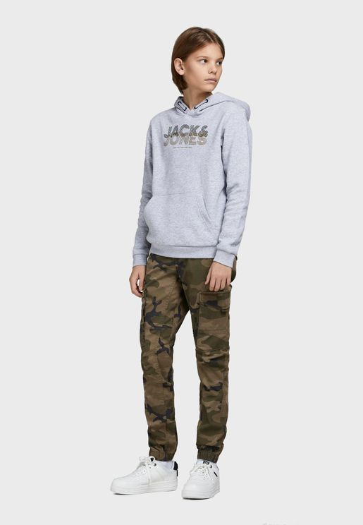 Youth Camo Cargo Pants