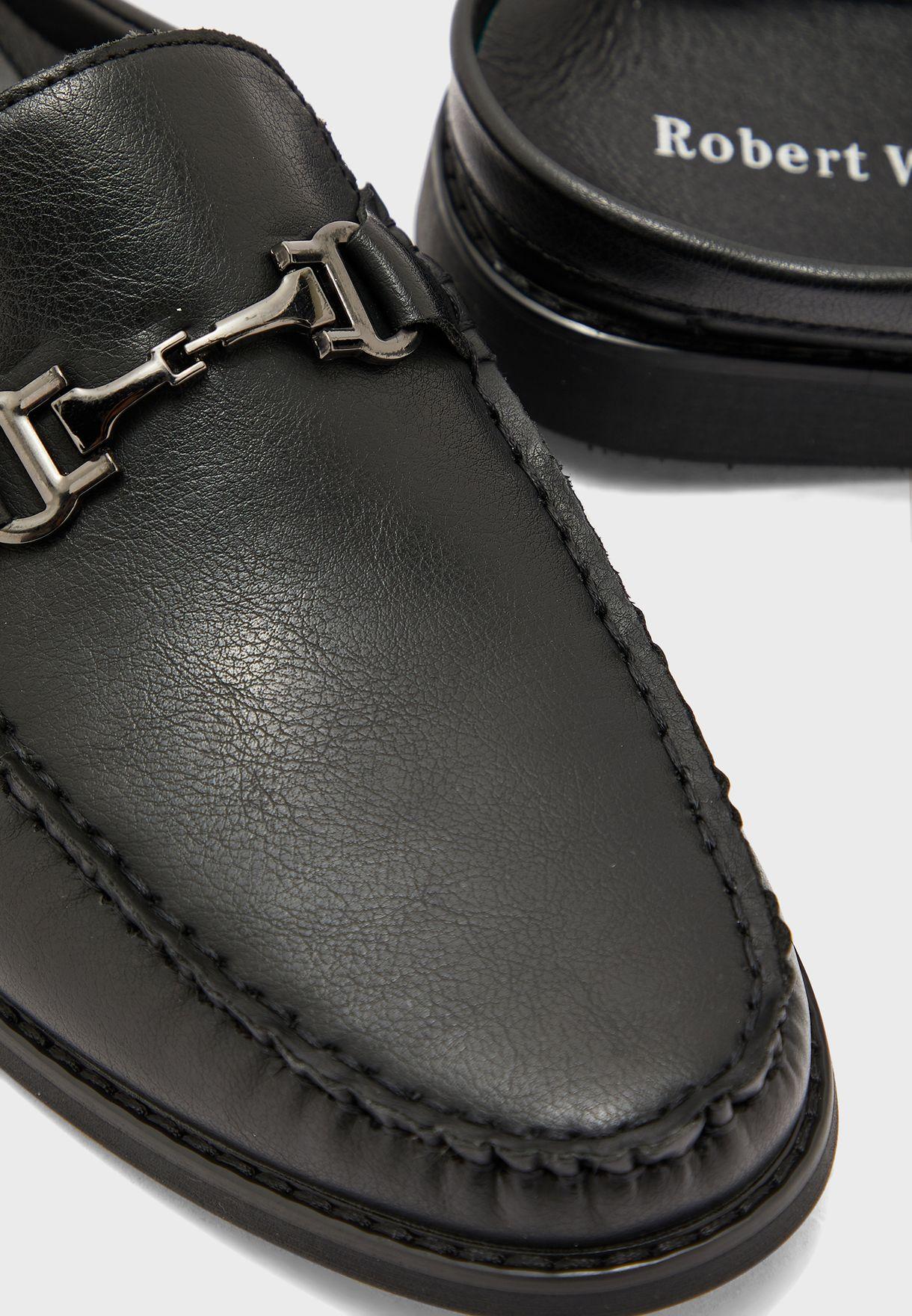 Saddle Detail Loafer Mules