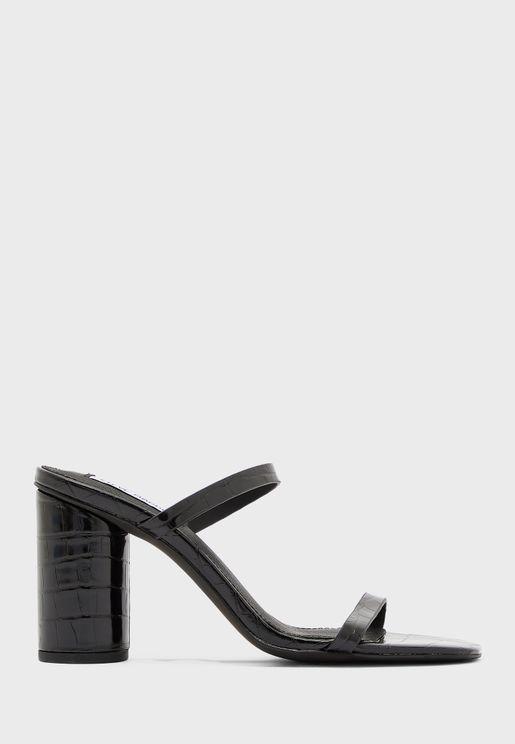 Kato Double Strap High Heel Sandal