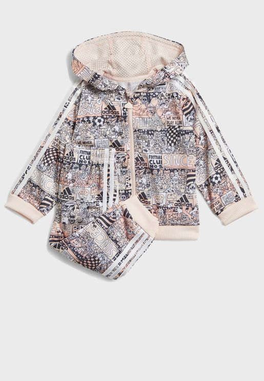 Infant Shiny Hooded Tracksuit