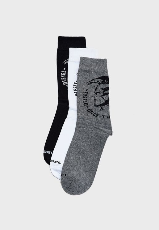 3 Pack Only The Brave Crew Socks