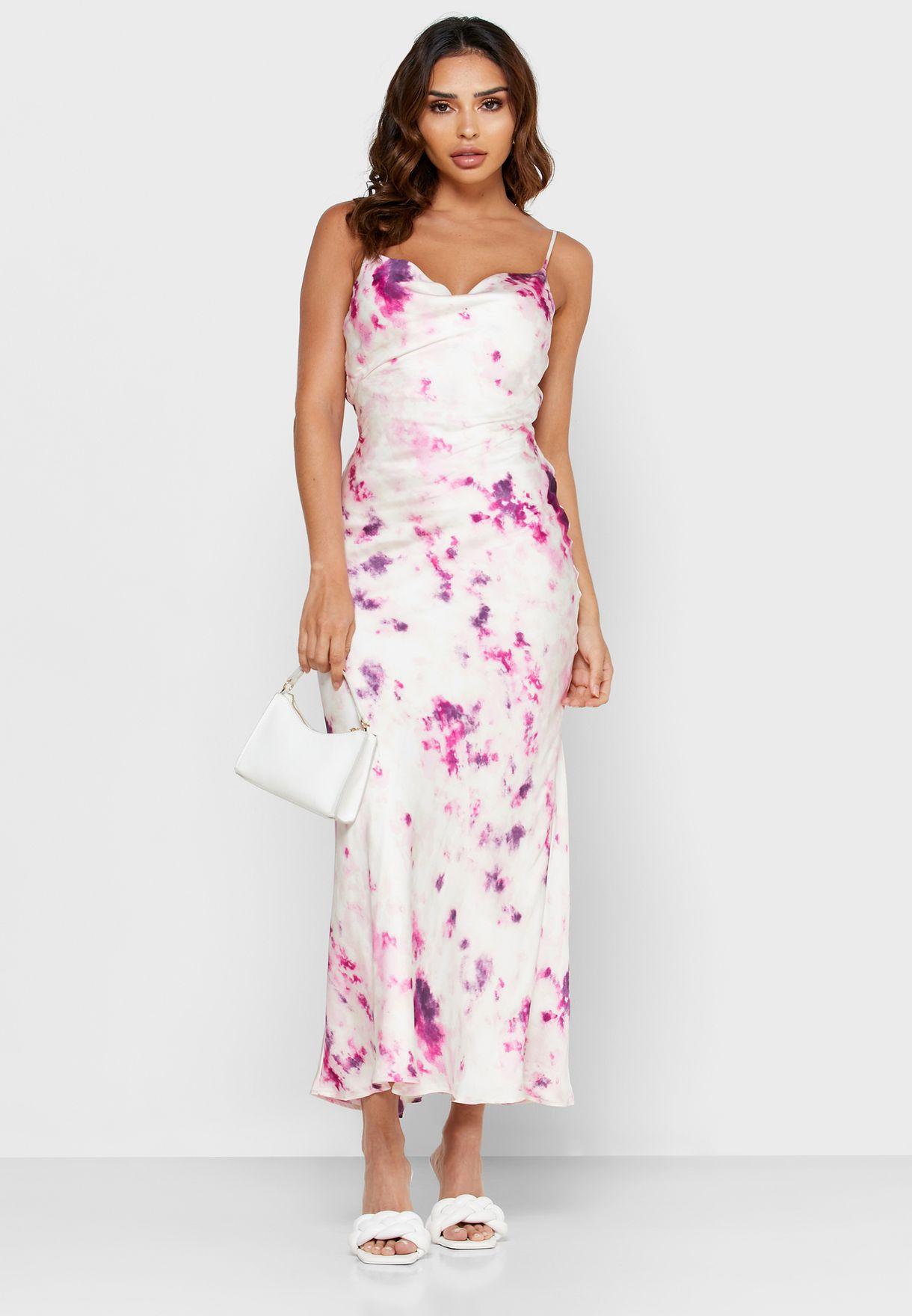 Cami Strap Tie Dye Dress