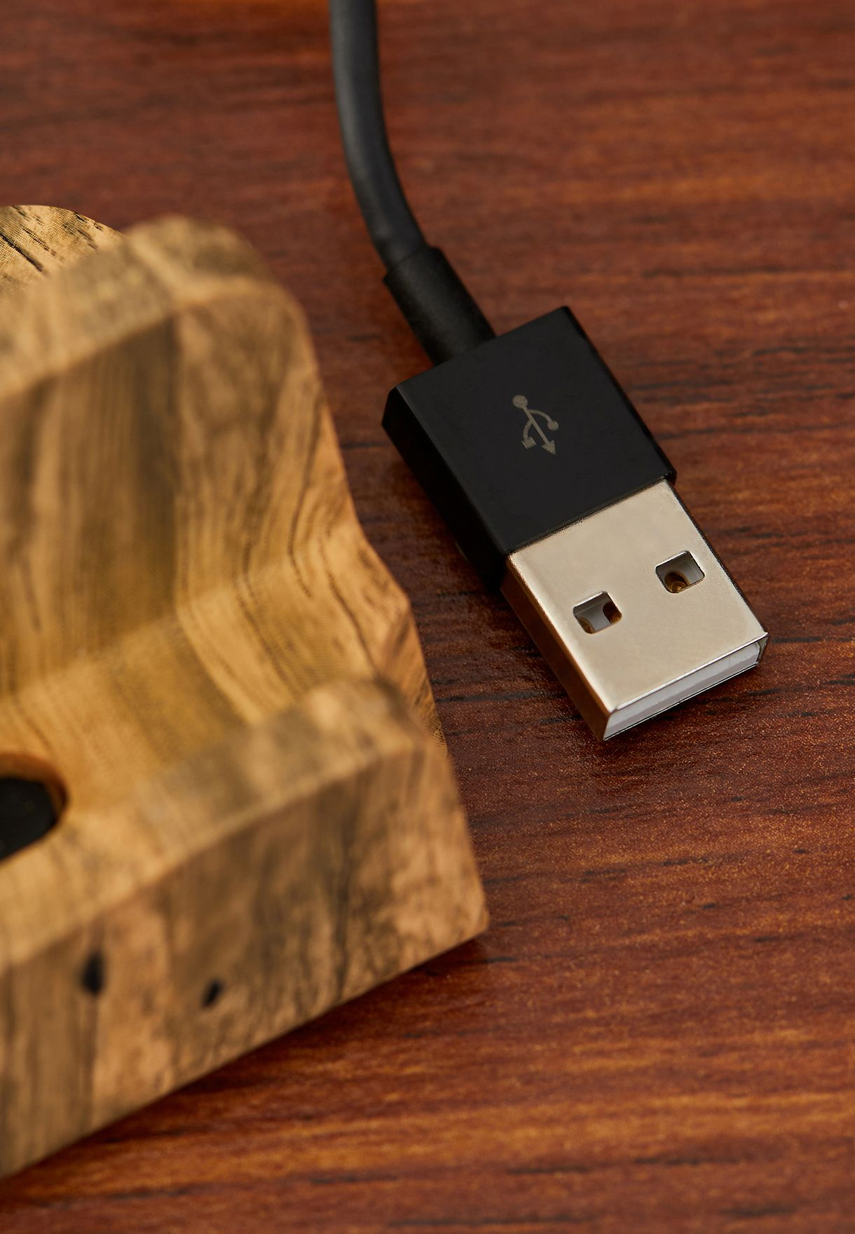 Woodgrain iPhone Docking Charger