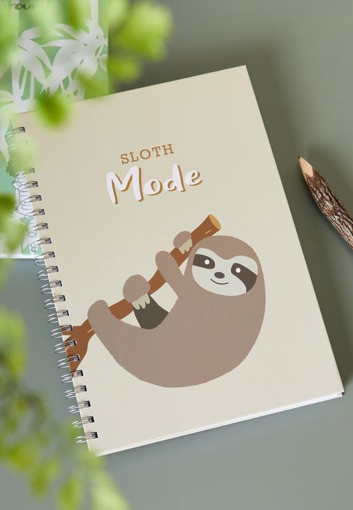 A4 Sloth Mode Notebook
