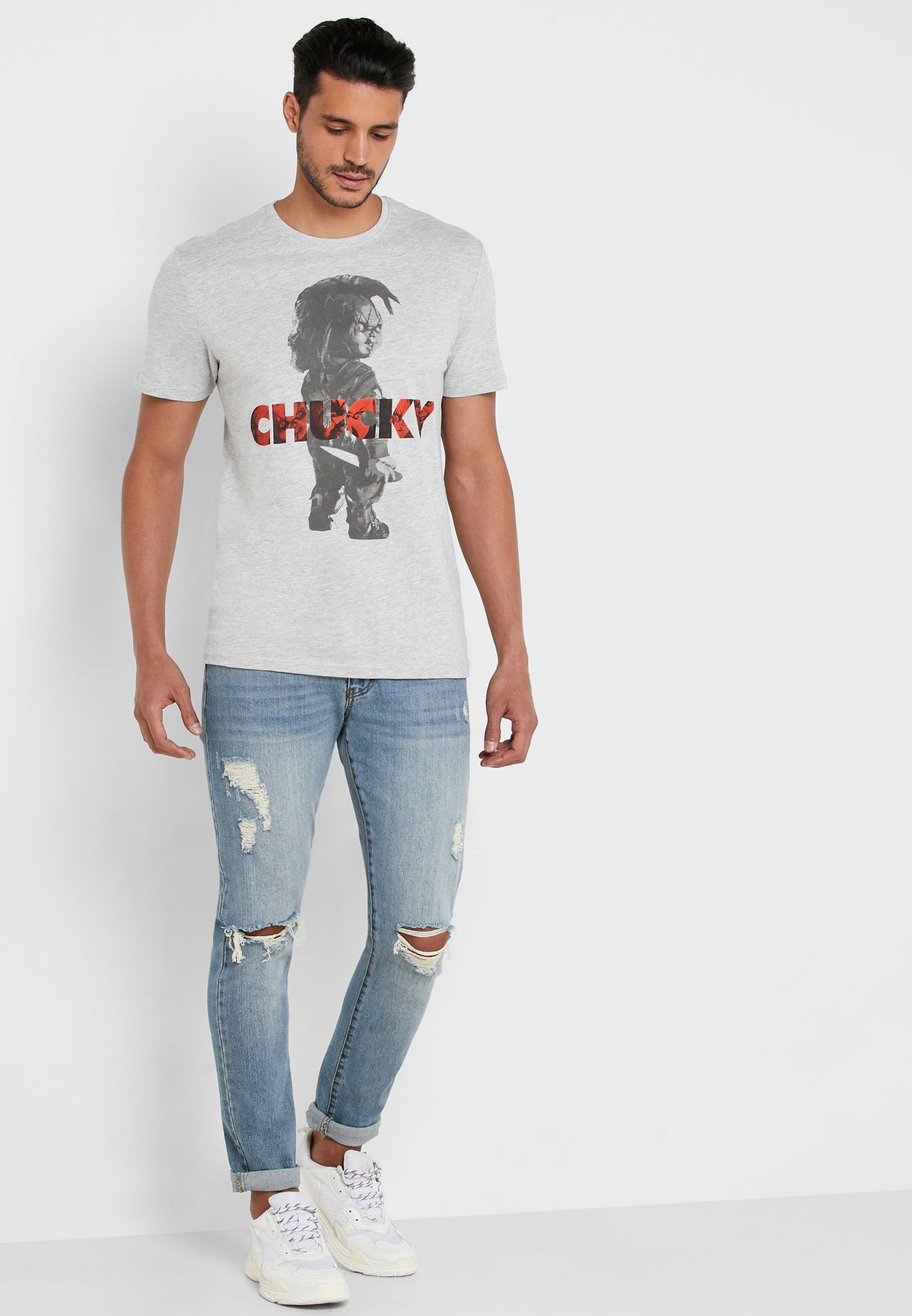 Chucky Graphic Crew Neck T-Shirt