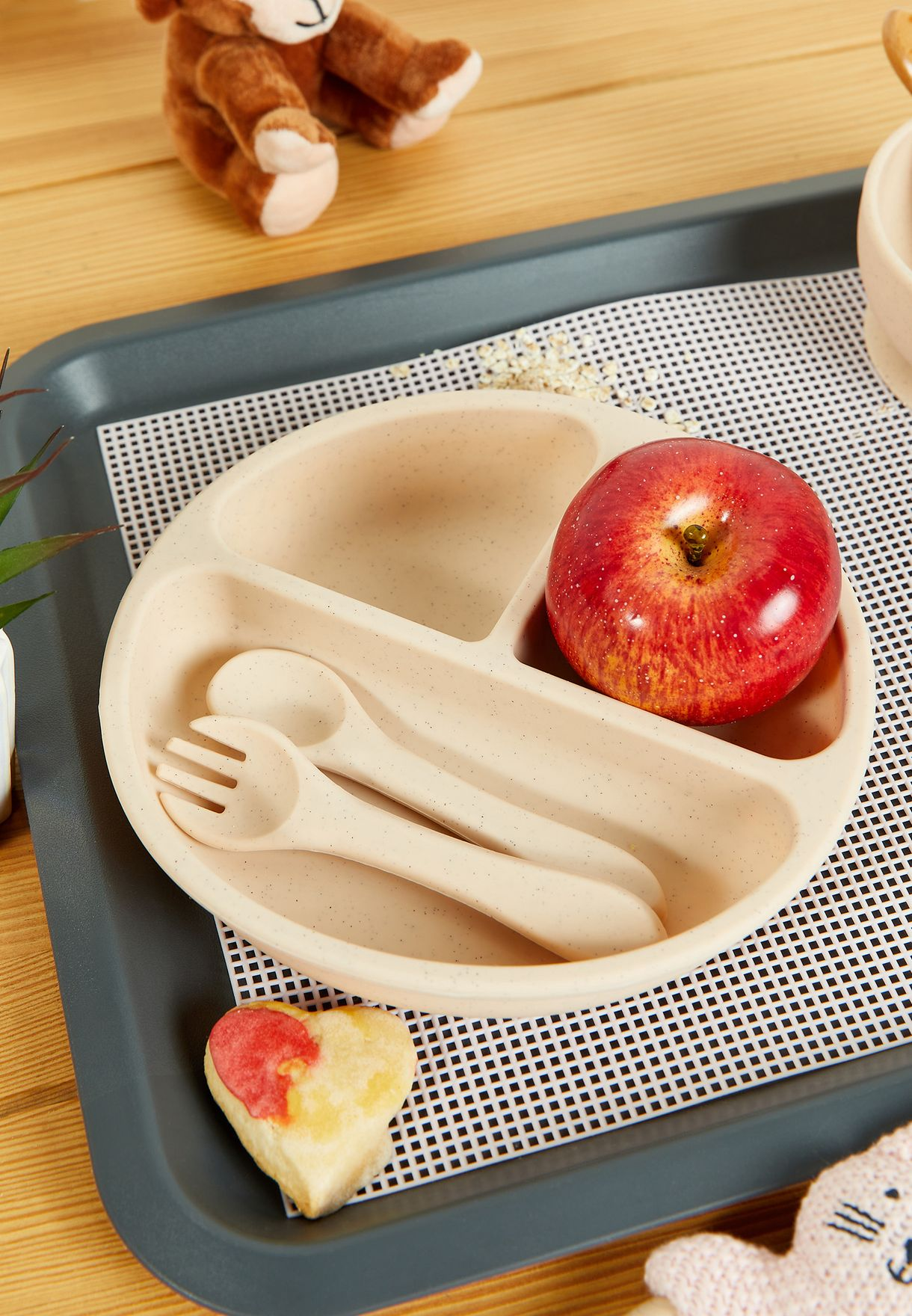 Silicone Plate & Cutlery Set
