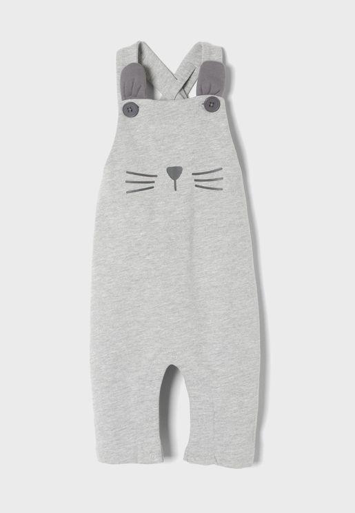 Infant Embossed Rabbit Onesie