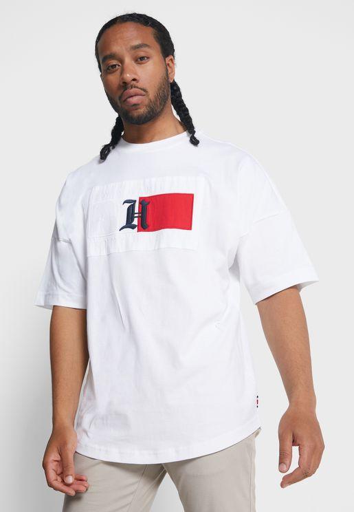 Logo Oversized Crew Neck T-Shirt
