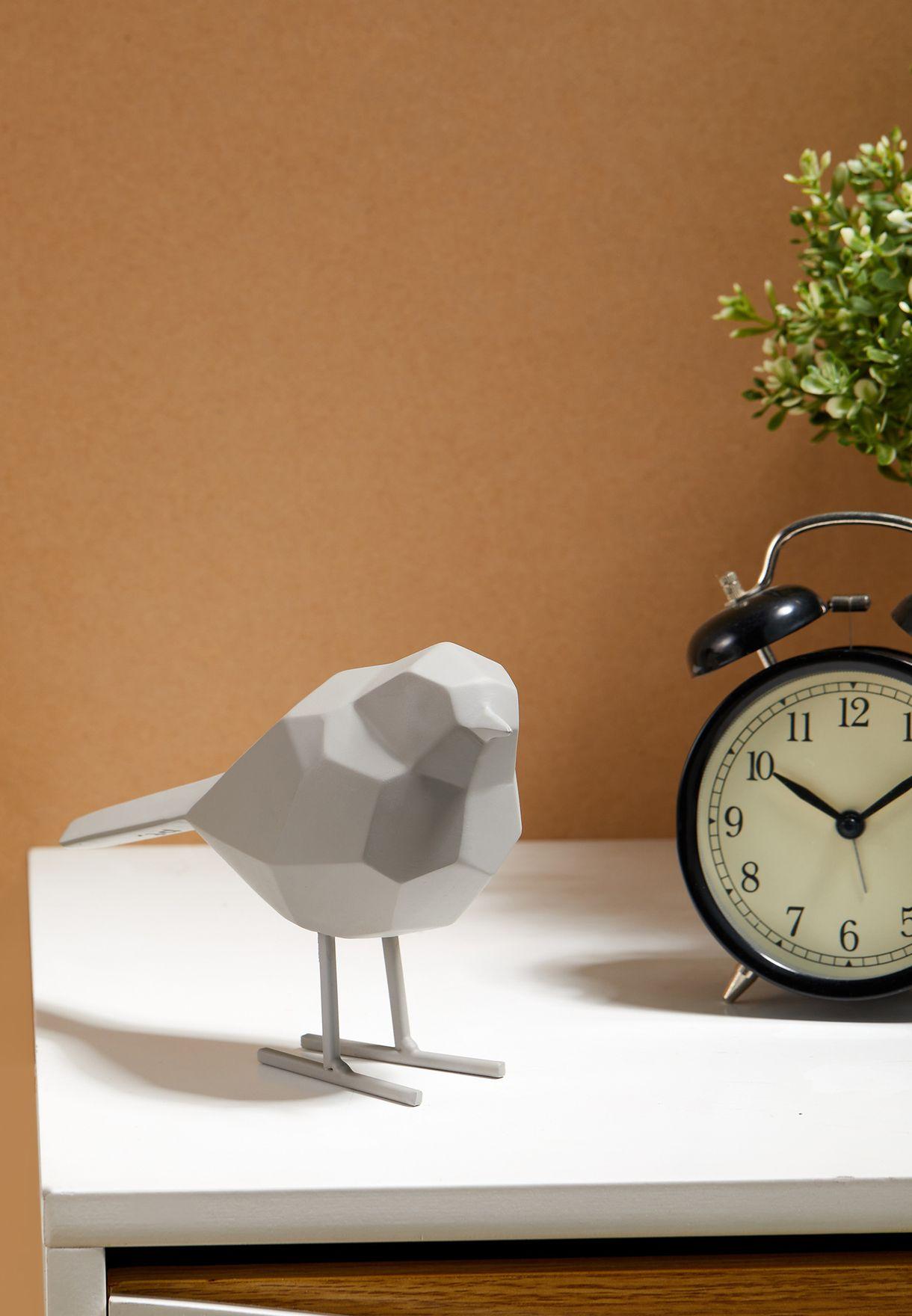 Warm Grey Bird Statue