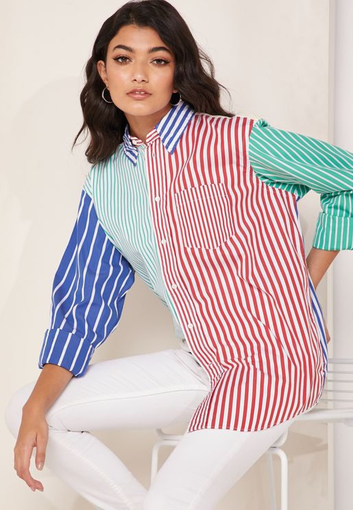 Striped Colorblock Shirt