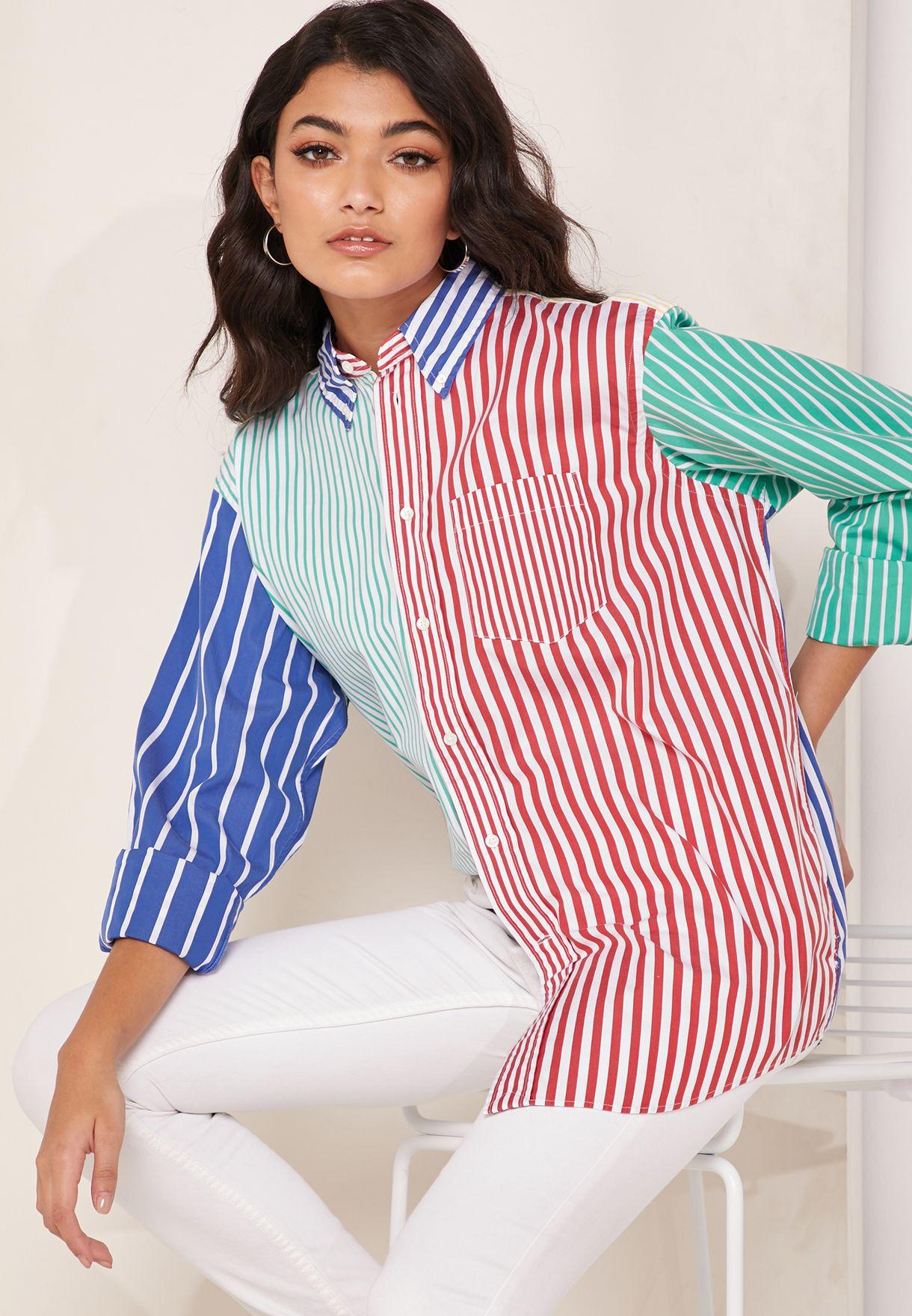 Striped Colorblock Shirt