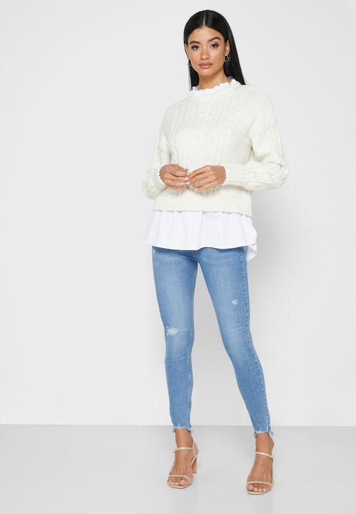 High Rise Skinny Spaghetti Jeans